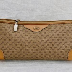 "GUCCI ""GG's Signature & leather Clutch handbag"